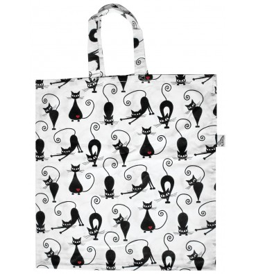 shopping Bag with BLACK CATS
