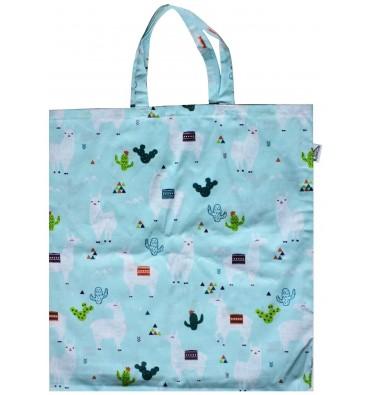 Shopping Bag with Lamas