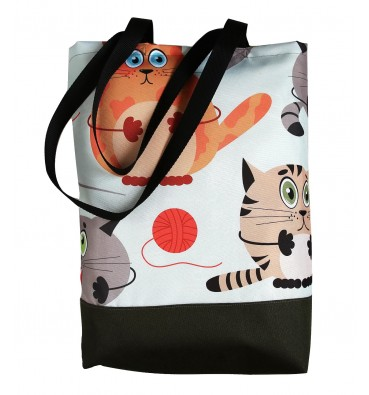 Shopping Bag with Cats