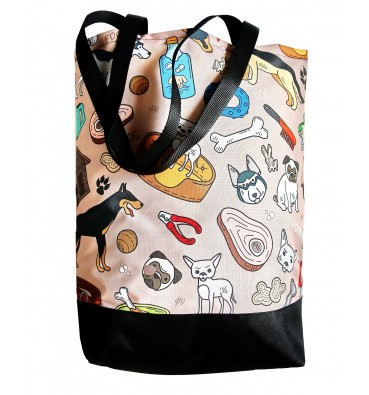 Shopping Bag with Dogs
