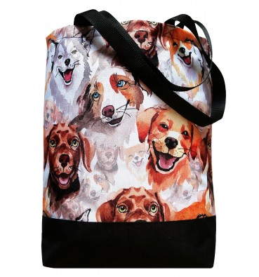 Shopping Bag with Doggies