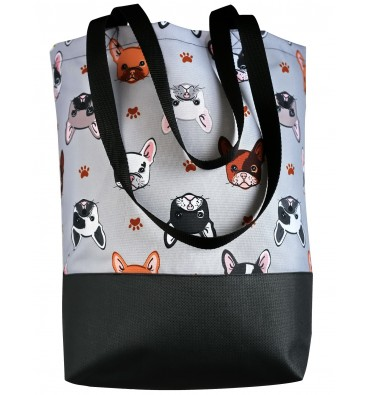Shopping Bag with Bulldogs