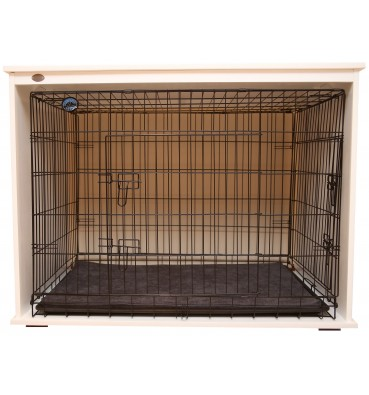 Wooden dog crate 2in1