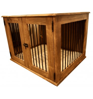 Wooden dog crate OPENWORK XS
