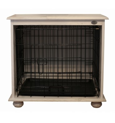 Wooden dog crate 2in1 M