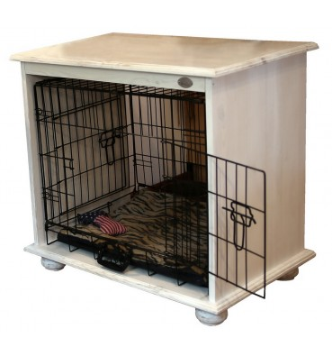 Wooden dog crate 2in1 XXL