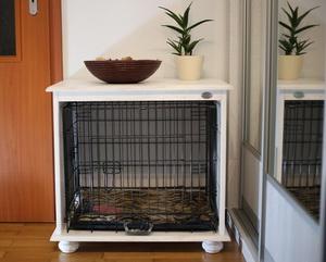 drewniana klatka kennelowa dla psa meblo klatka mebel klatka